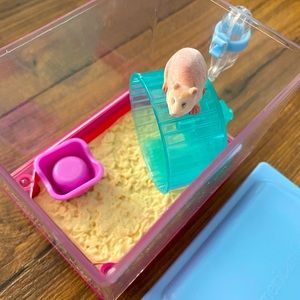 American Girl Hamster With A Cage
